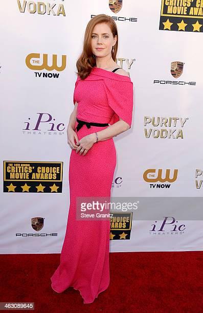 Actress Amy Adams attends the 19th Annual Critics' Choice Movie Awards at Barker Hangar on January 16 2014 in Santa Monica California