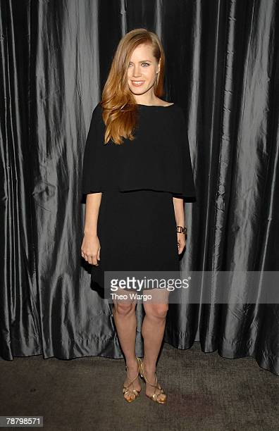 Actress Amy Adams attends the 2007 New York Film Critic's Circle Awards at Spotlight on January 6 2008 in New York City