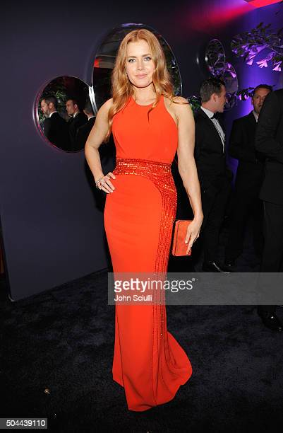 Actress Amy Adams attends The 2016 InStyle and Warner Bros 73rd annual Golden Globe Awards PostParty at The Beverly Hilton Hotel on January 10 2016...