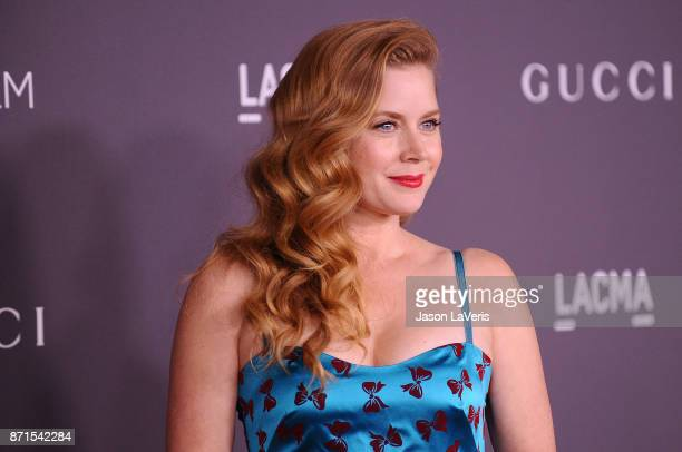 Actress Amy Adams attends the 2017 LACMA Art Film gala at LACMA on November 4 2017 in Los Angeles California