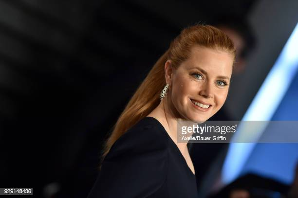 Actress Amy Adams attends the 2018 Vanity Fair Oscar Party hosted by Radhika Jones at Wallis Annenberg Center for the Performing Arts on March 4 2018...