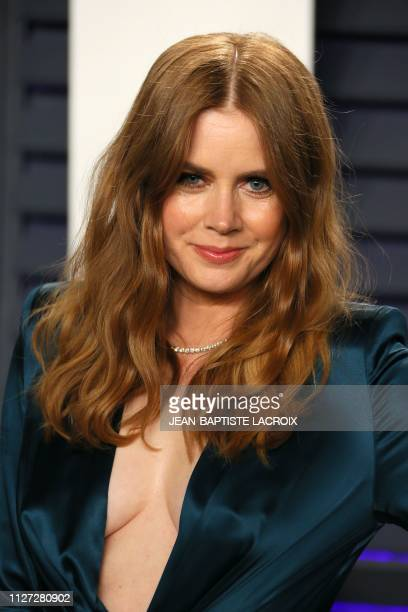 Actress Amy Adams attends the 2019 Vanity Fair Oscar Party following the 91st Academy Awards at The Wallis Annenberg Center for the Performing Arts...