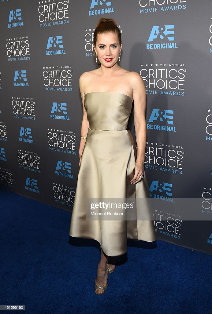 Actress Amy Adams attends the 20th annual Critics' Choice Movie Awards at the Hollywood Palladium on January 15, 2015 in Los Angeles, California.