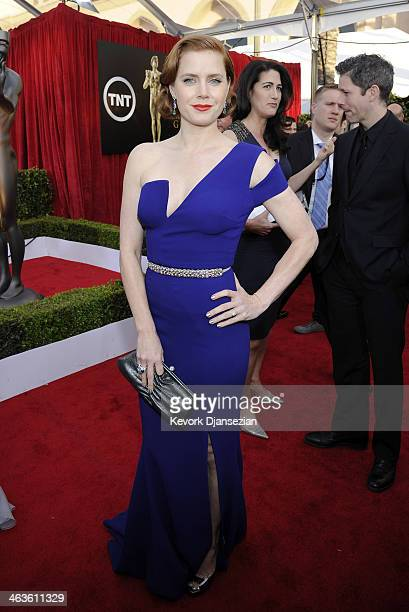 Actress Amy Adams attends the 20th Annual Screen Actors Guild Awards at The Shrine Auditorium on January 18 2014 in Los Angeles California