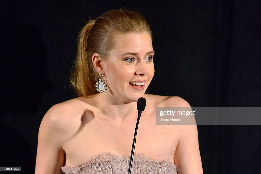 Actress Amy Adams attends the 38th Annual Los Angeles Film Critics Association Awards - Show at InterContinental Hotel on January 12, 2013 in Century City, California.
