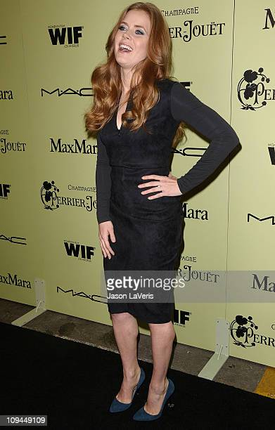 Actress Amy Adams attends the 4th annual Women In Film preOscar cocktail party at Soho House on February 25 2011 in West Hollywood California