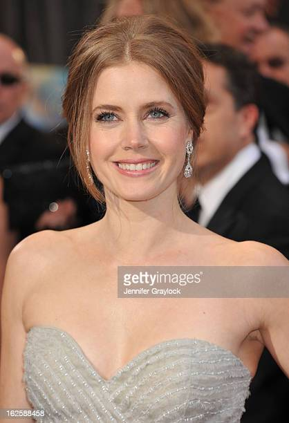 Actress Amy Adams attends the 85th Annual Academy Awards at Hollywood Highland Center on February 24 2013 in Hollywood California