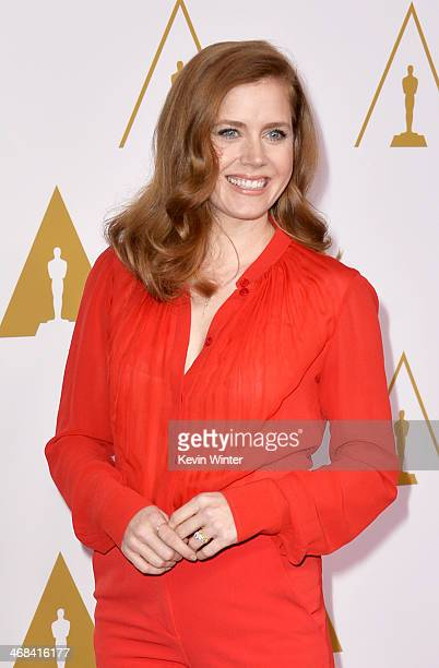 Actress Amy Adams attends the 86th Academy Awards nominee luncheon at The Beverly Hilton Hotel on February 10 2014 in Beverly Hills California