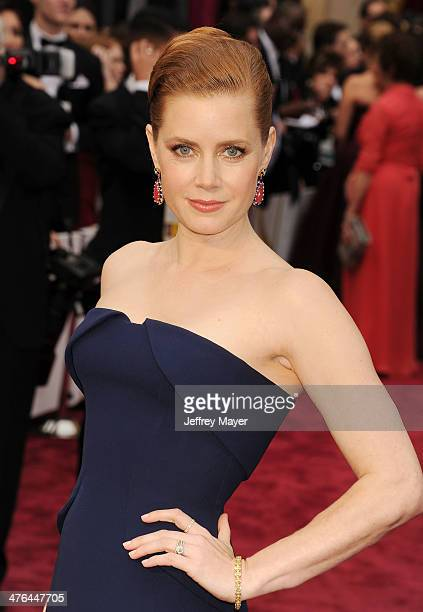 Actress Amy Adams attends the 86th Annual Academy Awards held at Hollywood Highland Center on March 2 2014 in Hollywood California