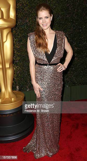 Actress Amy Adams attends the Academy Of Motion Picture Arts And Sciences' 4th Annual Governors Awards at Hollywood and Highland on December 1 2012...