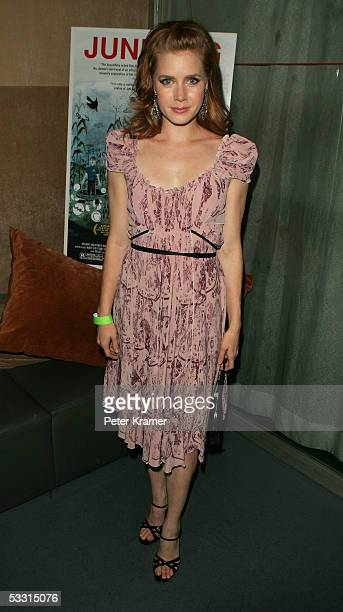 Actress Amy Adams attends the afterparty for the Sony Pictures Classics premiere of 'Junebug' on August 1 2005 in New York City