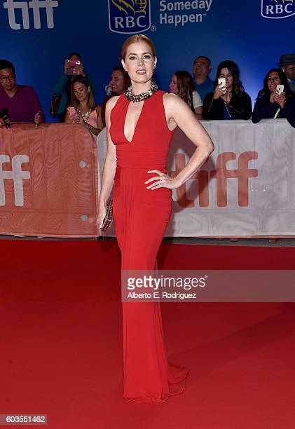 Actress Amy Adams attends the Arrival premiere during the 2016 Toronto International Film Festival at Roy Thomson Hall on September 12 2016 in...