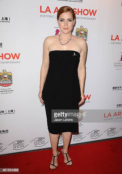 Actress Amy Adams attends the LA Art Show 2015 opening night premiere party at Los Angeles Convention Center on January 14 2015 in Los Angeles...