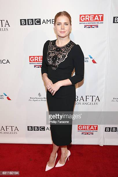Actress Amy Adams attends The BAFTA Tea Party at Four Seasons Hotel Los Angeles at Beverly Hills on January 7 2017 in Los Angeles California