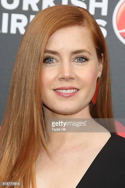 Actress Amy Adams attends the Batman v Superman Dawn of Justice premiere at Radio City Music Hall on March 20 2016 in New York City