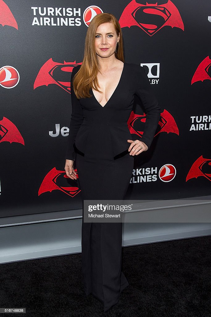 Actress Amy Adams attends the 'Batman V Superman: Dawn Of Justice' New York premiere at Radio City Music Hall on March 20, 2016 in New York City.