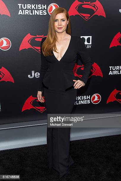Actress Amy Adams attends the 'Batman V Superman Dawn Of Justice' New York premiere at Radio City Music Hall on March 20 2016 in New York City