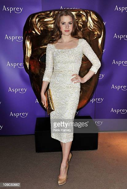 Actress Amy Adams attends The British Academy Film Awards nominees party at Asprey on February 12 2011 in London England