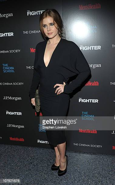 Actress Amy Adams attends the Cinema Society Men's Health screening of The Fighter To Benefit The Cinema School at SVA Theater on December 10 2010 in...
