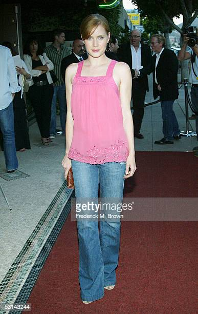 Actress Amy Adams attends the film premiere of 'The Last Mogul' at the Silent Movie Theatre on June 23 2005 in Hollywood California