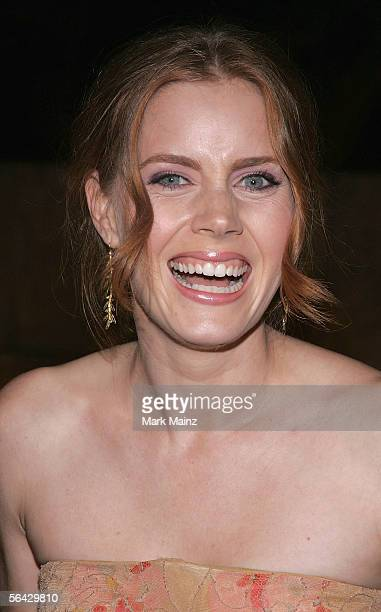 Actress Amy Adams attends the launch of Christian Dior's latest timepiece Christal designed by John Galliano for Christian Dior December 13 2005 at...