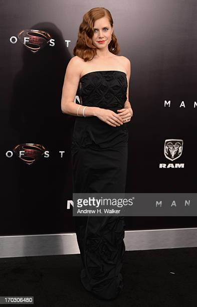 Actress Amy Adams attends the Man Of Steel world premiere at Alice Tully Hall at Lincoln Center on June 10 2013 in New York City