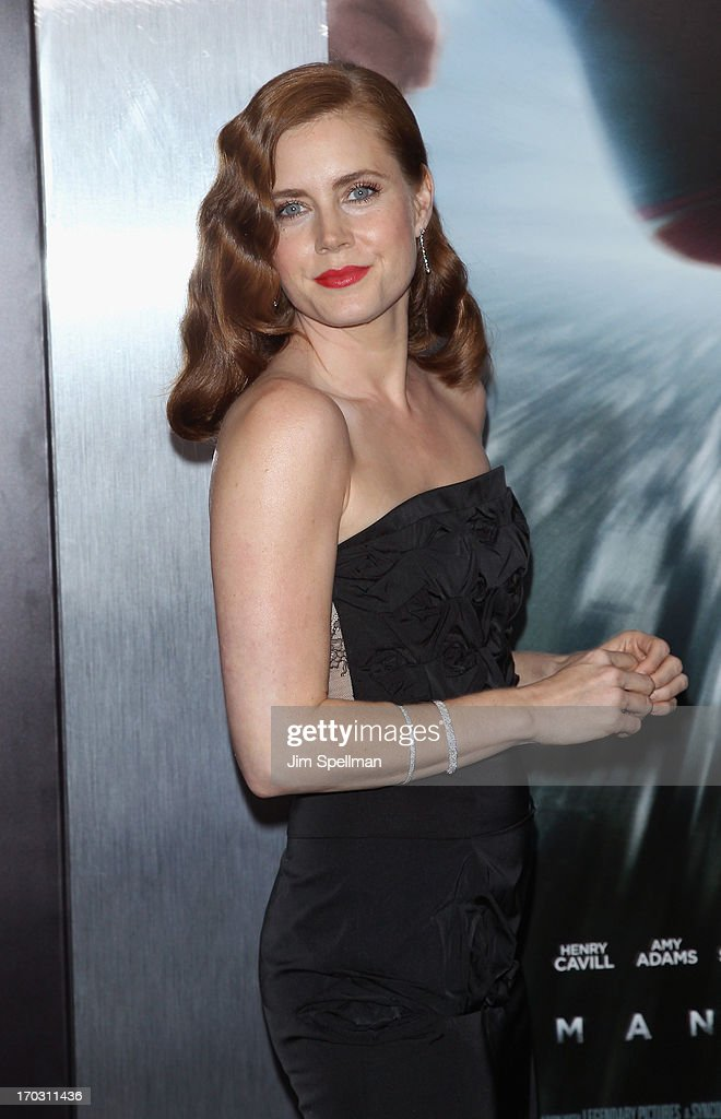 Actress Amy Adams attends the 'Man Of Steel' World Premiere at Alice Tully Hall at Lincoln Center on June 10, 2013 in New York City.