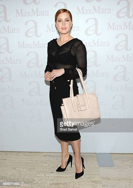 Actress Amy Adams attends the Max Mara Spring/Summer 2016 Accessories Campaign Celebration at Four Seasons Restaurant on October 19, 2015 in New York...
