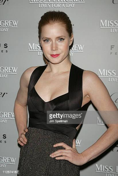 Actress Amy Adams attends the 'Miss Pettigrew Lives for a Day' premiere at the Tribeca Grand Screening Room on March 2 2008 in New York City