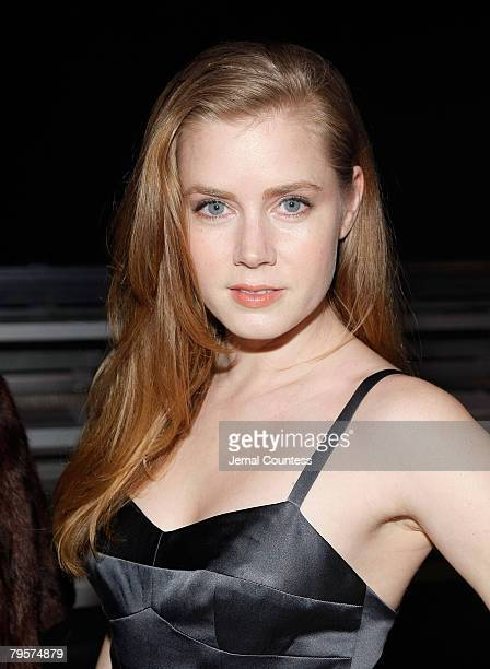 Actress Amy Adams attends the Narciso Rodriguez Fall 2008 show during MercedesBenz Fashion Week Fall 2008 at 547 west 26th St on February 5 2008 in...