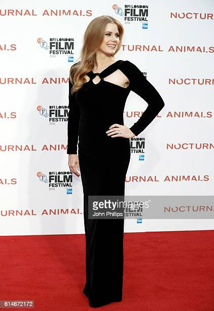 Actress Amy Adams attends the 'Nocturnal Animals' Headline Gala screening during the 60th BFI London Film Festival at Odeon Leicester Square on...