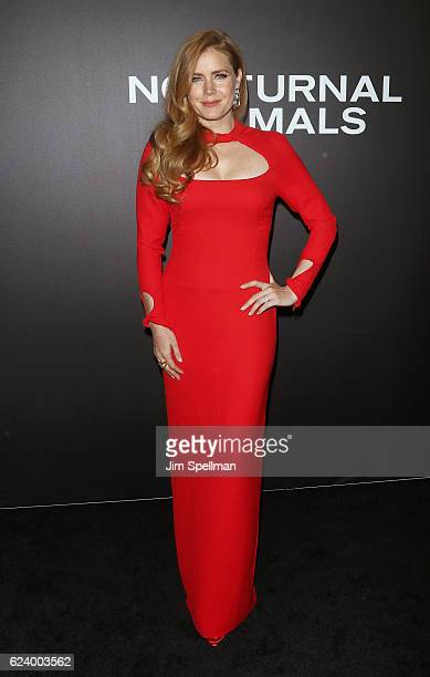 Actress Amy Adams attends the 'Nocturnal Animals' New York premiere at The Paris Theatre on November 17 2016 in New York City