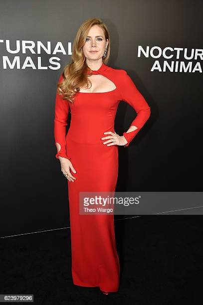 Actress Amy Adams attends the 'Nocturnal Animals' premiere at The Paris Theatre on November 17 2016 in New York City
