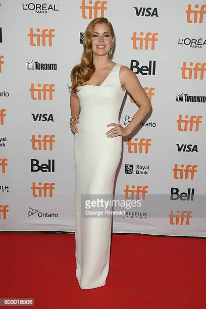 Actress Amy Adams attends the Nocturnal Animals premiere during the 2016 Toronto International Film Festival at Princess of Wales Theatre on...