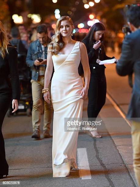 Actress Amy Adams attends the 'Nocturnal Animals' premiere during the 2016 Toronto International Film Festival at Princess of Wales Theatre on...