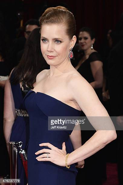 Actress Amy Adams attends the Oscars held at Hollywood Highland Center on March 2 2014 in Hollywood California