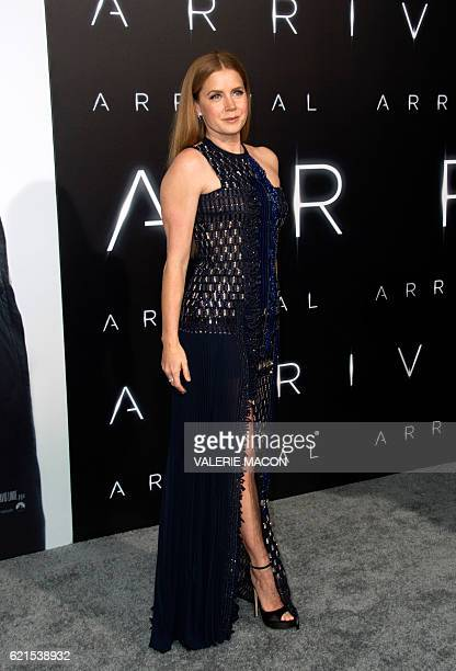 Actress Amy Adams attends the Paramount Pictures premiere of 'Arrival' in Westwood California on November 6 2016 / AFP / VALERIE MACON