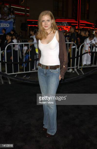 Actress Amy Adams attends the premiere of Dreamwork's 'The Tuxedo' at Mann's Chinese Theatre on September 19 2002 in Hollywood California The film...