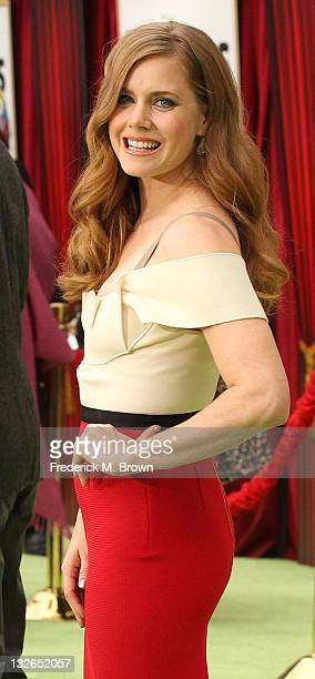 Actress Amy Adams attends the Premiere Of Walt Disney Pictures' 'The Muppets' at the El Capitan Theatre on November 12 2011 in Hollywood California