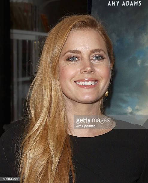 Actress Amy Adams attends the screening of Paramount Pictures' 'Arrival' hosted by Spike Jonze and The Cinema Society at The Metrograph on November...