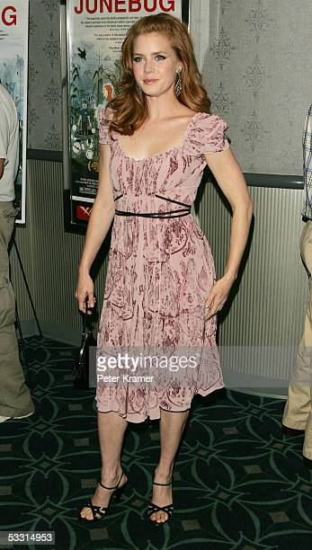 Actress Amy Adams attends the Sony Picture Classics premiere of 'Junebug' on August 1 2005 in New York City