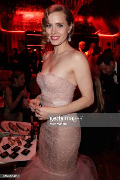 Actress Amy Adams attends the The Weinstein Company's 2013 Golden Globe Awards after party presented by Chopard HP Laura Mercier Lexus Marie Claire...