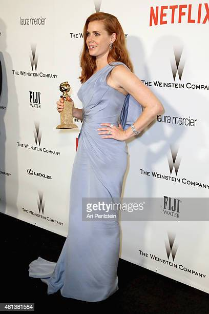 Actress Amy Adams attends The Weinstein Company Netflix's 2015 Golden Globes After Party presented by FIJI Water Lexus Laura Mercier and Marie Claire...