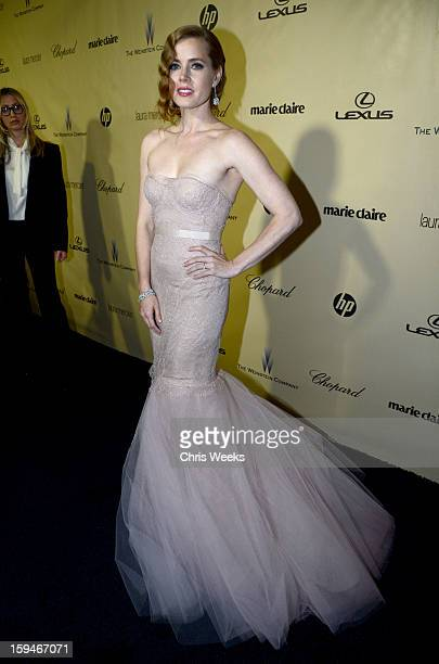 Actress Amy Adams attends The Weinstein Company's 2013 Golden Globe Awards after party presented by Chopard, HP, Laura Mercier, Lexus, Marie Claire,...