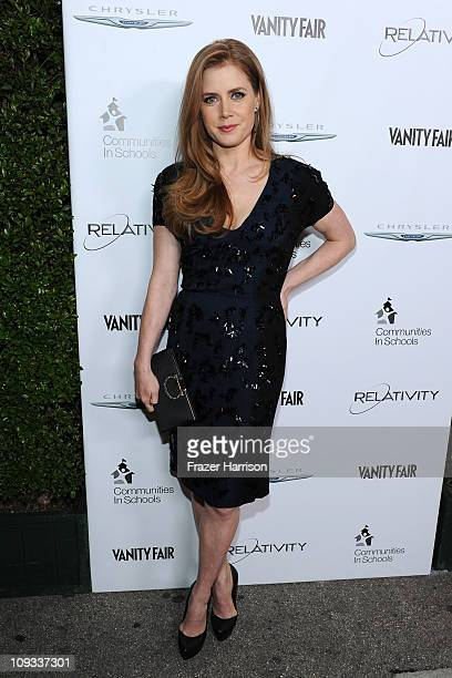 Actress Amy Adams attends Vanity Fair Campaign Hollywood 2011's kick off with Chrysler Celebrating The Fighter held at the District on Sunset on...