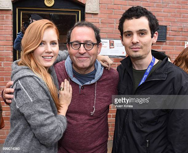 Actress Amy Adams copresident and cofounder of Sony Pictures Classics Michael Barker and director Damien Chazelle attend the Telluride Film Festival...