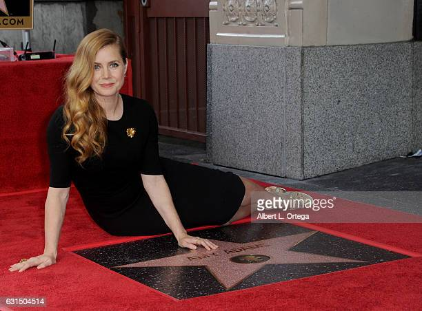 Actress Amy Adams honored with a star on the Hollywood Walk of Fame on January 11 2017 in Hollywood California