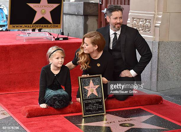 Actress Amy Adams husband Darren Le Gallo and daughter Aviana Olea Le Gallo attend the ceremony honoring Amy Adams with star on the Hollywood Walk of...