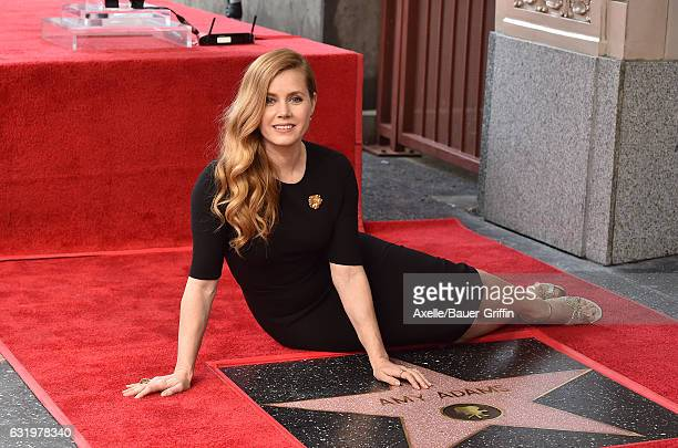 Actress Amy Adams is honored with star on the Hollywood Walk of Fame on January 11 2017 in Hollywood California
