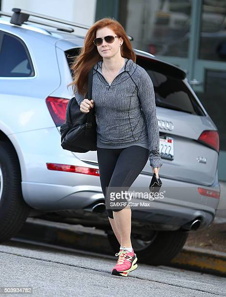 Actress Amy Adams is seen on January 7 2016 in Los Angeles California